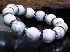 ハウライト14ミリ§パープルロンデル数珠