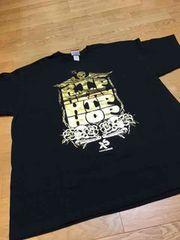 Exact-SciencesゴールドロゴプリントTシャツサイズXL黒ブラック