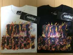 nitraid DOPE FOREST FLAMED TEE(BLACK&WHITE/M)(12A/W)