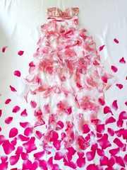 イルマIRMAフリルオーガンジー花柄pinkハイ&ロードレスEmiriaWiz