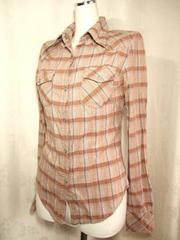 【MOUSSY】ブラウン系チェックのシャツです