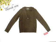 新品 GIVORS 襟付き 長袖 ニット セーター  L 11号