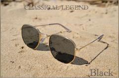 サングラス ミラー 伊達メガネ UV400 紫外線カット ブラック