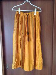shucaロングスカートエスニック黄色スカートMサイズ