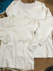 長袖肌着3枚、キルト半袖1枚。4枚セット 120