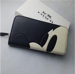COACH 財布 コーチ54000サイフ上質なレザーのラウンドZIP長財布