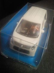 軽自動車 SUZUKI スズキ 新型 ワゴンR 発電するミニカー ホワイト プルバックカー