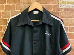 実寸ML/USA製!70s ビンテージ ボーリングシャツ 古着 ロック ロカビリー バイカー