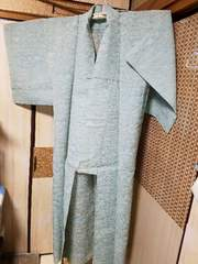 アンティーク☆夏着物《美麗淡緑系色》