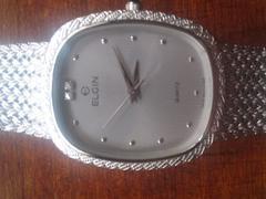 ★新品エルジン腕時計シルバーです☆
