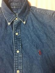 ラルフローレン デニムボタンダウンシャツ XL