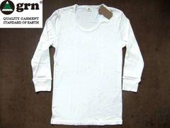 grn(ジーアールエヌ)年間使える無地7分袖Tシャツ L ナチュラル