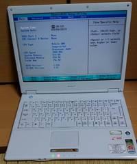 ジャンクSHARP PC-CW50X(Sempron3600+ 2GHz、メモリ1GB、HDD無)