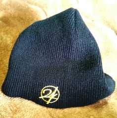 24KARATS/ニット帽/キャップ/ブラック×ゴールド刺繍/1点美品