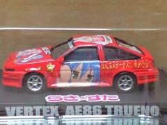 1/64 らき☆すた 痛車ミニカーコレクション ベルテックス AE86 トレノ レッド