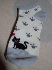 新品靴下くつ下23�p〜25�pネコ猫