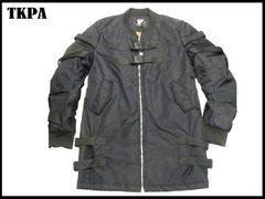 新品TKPA ジップミリタリMAォングジャケット PARISUKストラップ テールジャケット