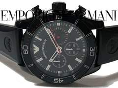 極レア 1スタ★エンポリオ アルマーニ【クロノグラフ】腕時計