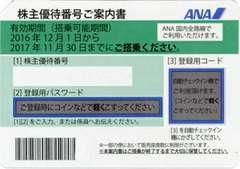 ANA株主優待券(11月30日搭乗分迄) 2枚セット 送料無料