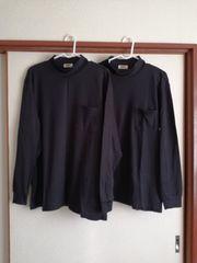 中古WORKMANワークマン裏綿速乾長袖ハイネックシャツブラック黒M2枚まとめ売り