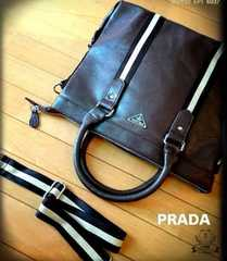 PRADA italy2wayブリーフ ヴィンテージブラウン新品ノベルティ