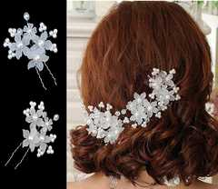 お花かんざし まとめ髪 ヘアピン3個セット!結婚式パーティ