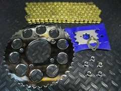 CBX400FCBX400F�Uゴールドチェーンメッキスプロケセット