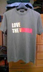 モルガン プリント半袖Tシャツ Sサイズ・細身タイト グレー灰色+カーキ 日本製 ロック