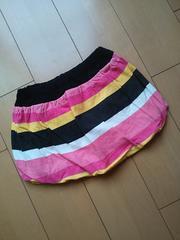 新品マルチボーダーバルーンスカート黒130LOVEREVOLUTIONラブレボ