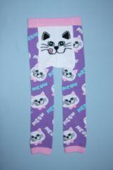 サイズ限定!お買得!!ラブリー♪ねこ柄ベビー用スパッツ/レギンス80-90ネコ猫