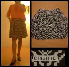 BRIGITTE☆タック入り 大人デジタル柄 素敵スカート 9