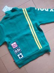 新品2ラインジャケット100緑ベビドBABYDOLLベビードール