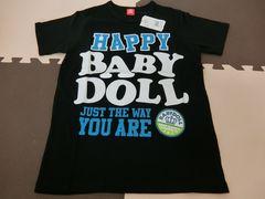 ♪新品 BABYDOLL HAPPYTシャツ ブラック Sサイズ♪