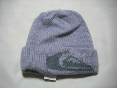 mb636 男 QUIKSILVER クイックシルバー ニット帽 ビーニー 灰