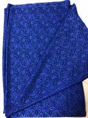 生地※ちりめんジャガード※濃いブルー※青110�px2.9m