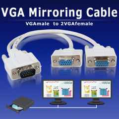 ☆VGA ミラーリング ケーブル オス1端子 メス2端子