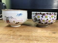 美し過ぎる、桜絵の抹茶碗を二種。