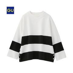 新品G.U.ワイドスリーブボーダーセーター