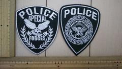 NO.97 アイロンワッペン 2枚セット POLICE ポリス