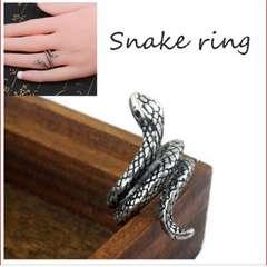 蛇 指輪 スパイラル へび スネーク レトロ ヴィンテージ風