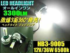 HB3型ハイビーム用オールインワン一体型COB-LEDヘッドライト白色