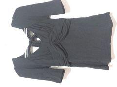 新品ビバユー\12600バックリボン5分袖カットソー黒マウジー