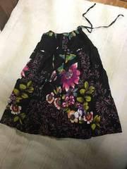 アジアン フラワー キャミ 2way スカート