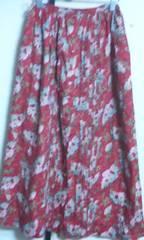 ピンクハウス スカート 赤に花柄