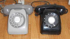 電話はこんな形だった!初期のダイヤル式黒電話&古電話です。