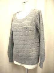 【E hyphen world gallery】【未使用品】透かし編みセーター