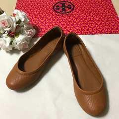 西武百貨店直営店購入トリーバーチ入手困難ペタンコ靴お安く