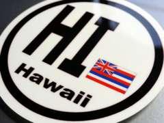 ○円形 ハワイ州旗ステッカービークルID国識別シール