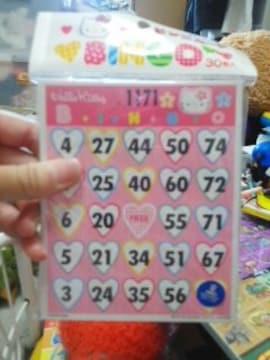 キティビンゴゲームカード