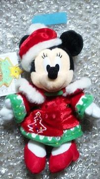 完売 ディズニーランド TDL クリスマス サンタビレッジ ぬいぐるみバッジ ミニー